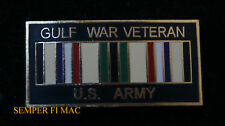 GULF WAR VETERAN US ARMY HAT LAPEL VEST PIN UP US USA VET GIFT OIF WOW