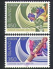 Iceland 1982 Europa/Viking/Boats/Grapes/Transport/Exploration 2v set (n37873)