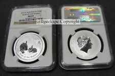 "2011-P 1/2 OZ .999 SILVER AUSTRALIA LUNAR ""YEAR OF THE RABBIT"" NGC MS69 LOW POP"