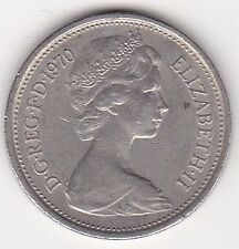 Britain Queen Elizabeth II 5 New Pence Coin - 1970