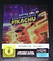 Pokemon Meisterdetektiv 4K Ultra HD Blu Ray + Blu Ray Limitée Steelbook Neuf