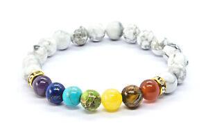 7 Chakra Bracelet. Crystal Healing Stone Beads Jewellery. Natural Yoga gift