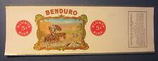 Original Old Vintage 1913 - BENDURO - CIGAR Can LABEL - Knight on Horse / Sheep