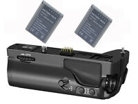 Pro Battery Grip + 2x BLN-1 Battery for Olympus OM-D E-M1 OMD EM1 replace HLD-7