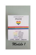 2bb1874b1141 PULSERA Bandera Orgullo Gay Cinta de Seda Entrepieza  Gay Pride Flag  Bracelet
