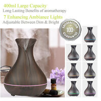Aroma Essential Oil Diffuser Cool Mist Ultrasonic Humidifier Aromatherapy 400ML