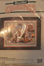 Bucilla Christmas Santa Checking His List Cross Stitch Kit Sealed 82851