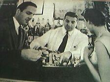 newspaper cutting 1956 gay nineties bar martinis new york