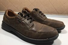 10)Ecco Seawalker Brown Leather Oxford Lace Up Shoes Men's Size 13-13.5/47