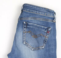 Replay Femme Perle Extensible Jambe Droite Jean Taille W27 L32 APZ899