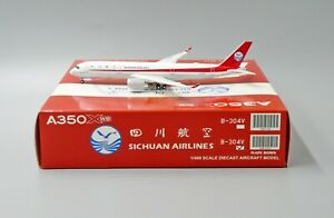 JC Wings 1:400 Sichuan Airlines A350-900 XWB 'Flaps Down' B-304V Diecast Model