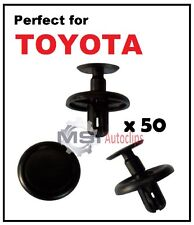 50 x TOYOTA Plastic Trim Clips Wheel Arch Inner Lining Engine Bay Covers Shields