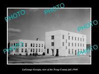 OLD LARGE HISTORIC PHOTO OF LaGRANGE GEORGIA, THE TROUP COUNTY JAIL c1940