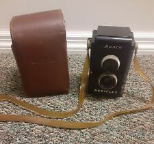 Vintage Ansco Rediflex Camera With Brown Leather Case