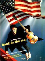 PAUL McCARTNEY 2002 BACK IN THE US TOUR CONCERT PROGRAM BOOK BOOKLET / EX 2 NMT