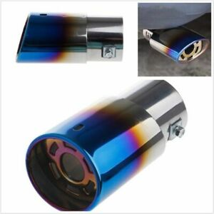 62mm Auto Car Round Stainless Steel Rear Exhaust Muffler Pipe Tail Muffler Tip