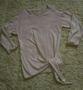 NEXT Size 14 Dusty Pink Blush Lightweight Cotton Jumper Top