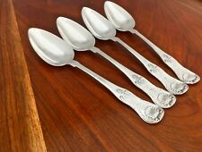 Maltby Pelletreau / Wm Thomson (4) American Coin Silver Serving Spoons: Kings