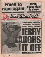 New York Post October 21 1998 Jerry Seinfeld George Steinbrenner 020320AME