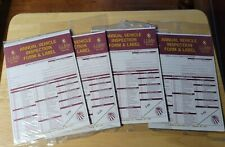 Lot Of 4 Annual Vehicle Inspection Form & Label 3 Ply J.J. Keller USA.