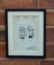 """USA Patent Vintage SCUBA DIVING COUSTEAU Mounted PRINT 10"""" x 8"""" 1949 Gift Xmas"""