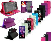 For HTC Desire 530 New Leather Flip Book Wallet Phone Case Cover + Screen Guard