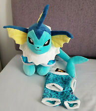 BUILD A BEAR ONLINE EXCLUSIVE POKEMON VAPOREON BUNDLE BRAND NEW WITH TAG