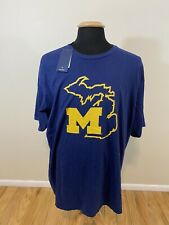 NEW NWT Men's Fanatics Michigan Wolverines T-shirt Navy Blue SZ 3XL
