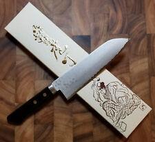 Masutani 165mm Japanese Santoku Knife Stainless VG10 - Damascus