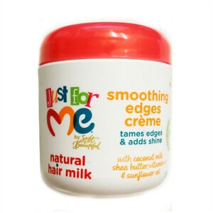 [SOFT & BEAUTIFUL] JUST FOR ME NATURAL HAIR MILK SMOOTHING EDGES CREME 6OZ