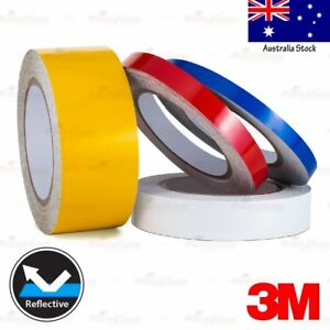 3M REFLECTIVE High Visibility Waterproof Decal Tape Stickers 10mm 15mm 25mm 50mm