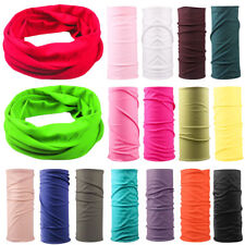 2019 ! Solid Colors Scarf Tube Bandana Head Face Mask Neck Gaiter Snood Headwear
