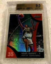 KEVIN DURANT 2007 TOPPS FINEST RED REFRACTOR ROOKIE #71 BGS 9.5 GEM MINT NETS
