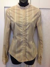 SCANLAN THEODORE 12 10 top stretch stripes work office corporate exc RP $280