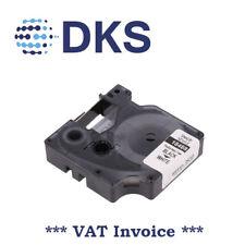 DYMO 18488 12mm x 3.5m nylon black on white tape 001118