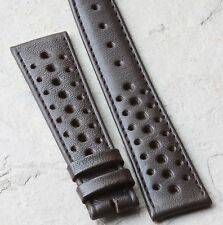 Vintage Heuer Carrera Heuer Autavia brown pinpoint leather 20mm rally watch band