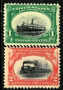 [DZ]    US #294-295 Mint-NH OG 1901 ~ 1c 'PAN-AM' Bi-Color Expo Issue