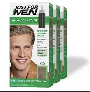 Just for Men Hair Color Dark Blond Lightest Brown H 15 1 application Pack of 3