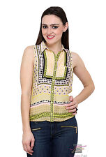 SALE SUMMER RIVER ISLAND Womens Ladies Girl Yellow Collar Shirt Top Blouse 6-18