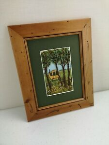 Beautiful Hand Sewn Stitchscapes Landscape Art Framed Pictures By Audrey Smith