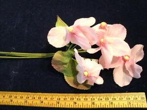 Vintage Millinery Flower Cyclamen Bunch of5 NE3 Pink