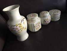 Vintage (1950s) English Sadler Vase, Box, Jar & Trinket Set In Perfect Condition