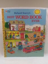 """NEW VTG Richard Scarry's """"Best WORD BOOK Ever"""" by Golden Books 1991 10"""" x 12"""" HC"""