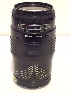Sigma Auto Focus Zoom AF Multi-Coated 1:3.5~4.5 35mm ~ 135mm Camera Lens