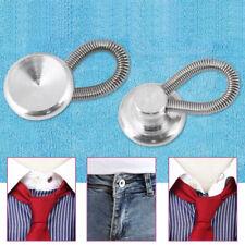6Pcs/Set Metal Shirt Collar Extenders Expanders Top Neck Tie Buttons&Flexible