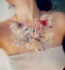 Anthropologie Derya Aksoy Fluttery Butterfly Organza Necklace-$275 MSRP