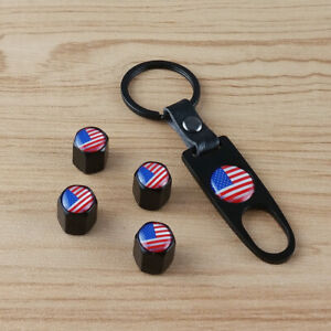 USA United States Metal Wrench Wheel Air Tyre Tire Valve Stems Caps For Ford