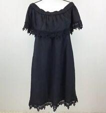 DG2 Black Off Shoulder Linen Blend Dress Size XL