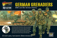 GERMAN GRENADIERS - WARLORD GAMES - BOLT ACTION - 28MM PLASTIC - 1ST CLASS POST