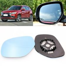 For Mitsubishi ASX 2013-2016 Side View Door Mirror Blue Glass With Base Heated